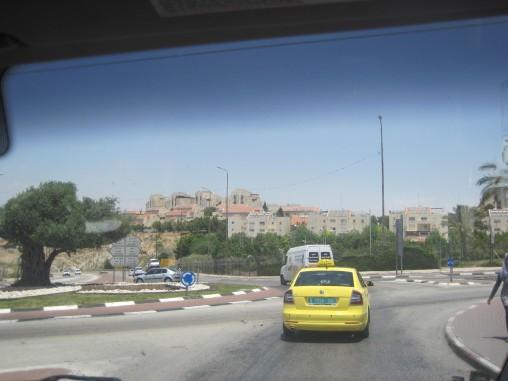 Views of Ma'ale Adummim/ Azariya roundabout. EA Hughes