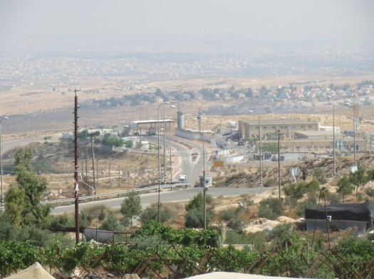 The Beit Yatir Checkpoint taken from the village of A Seefer [Photo: EAPPI/T.Mansbridge]