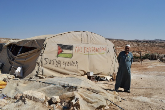The people of Susiya have lived in constant fear of their village and homes being demolished [Photo: Eoghan Rice/Trócaire]