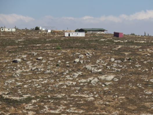 The outpost settlement overlooking Yanoun:21/6/15. Photo Credit EAPPI:S.Horne