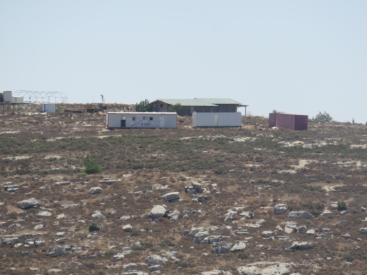 The outpost settlement overlooking Yanoun:19/7/15. Photo Credit EAPPI:S.Horne