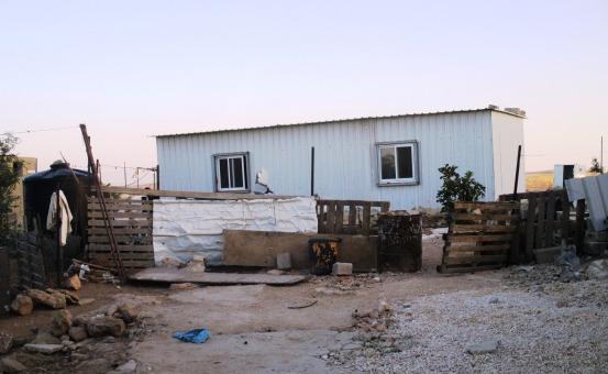 EU shelter with its windows. EAPPI/A.Davison