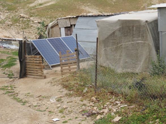 3 of the solar panels. PhotoCredit:EAPPI:S.Horne.