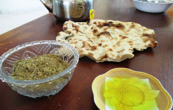 Za'atar, bread and olive oil. EAPPI/A.Davison