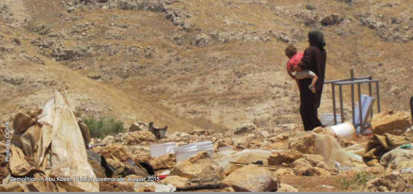 Demolition in Abu Khash, Nablus, August 2015. Photo: UNOCHA
