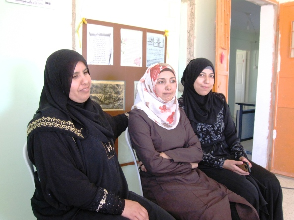 Teachers of English, Arabic and Maths at Zwedeen school [Photo: EAPPI/A.Davison]