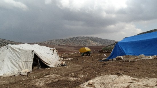 Usura's home with a view of the Jordan Valley