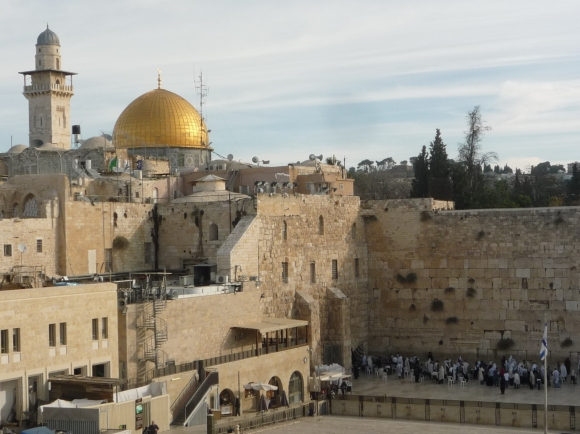25.11.2015 Western Wall Plaza with Dome of the Rock above. Photo EAPPI K.Cargin