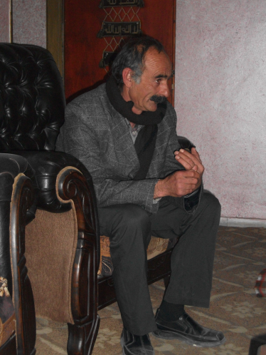 Abu Ibrahim, head of the village of Beit Zakariya [Photo: EAPPI/E.Strachan]