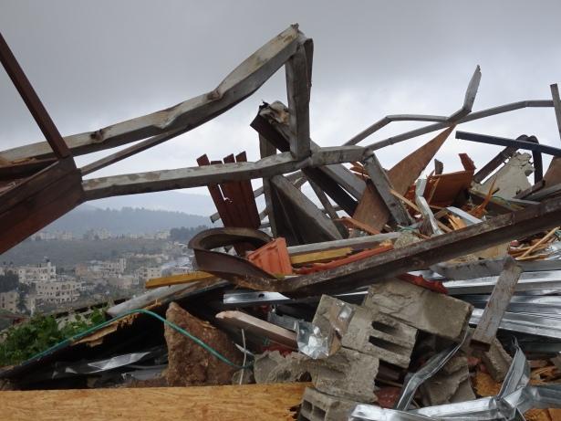 Photo 2 Demolition in Batir (photo EAPPI/ A.Holmes)