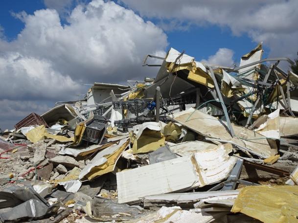 Photo 5 Demolished chicken slaughterhouse, Ni'lin. (photo EAPPI/A.Holmes)