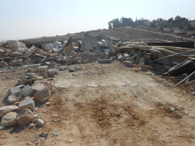 Siteo twice-demolished community centre, Umm al-Khair Photo:EAPPI/Liz