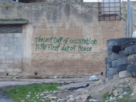 Graffiti in lower Yanoun