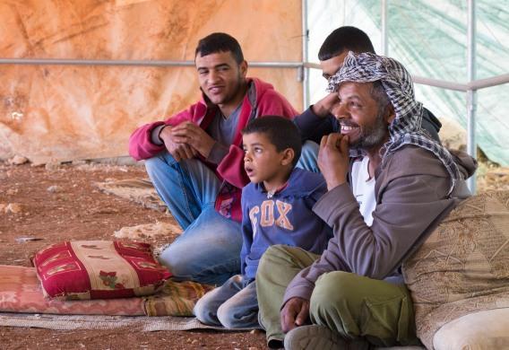 0447 12-05-17 Nablus, Ein Ar Rashash, Bedouin family. Photo EAPPI - Andy