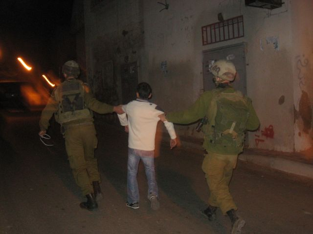 12 year old arrested by soldiers