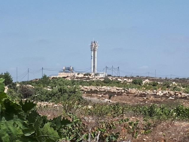Saturday, September 23, 2017 Muhanned Salah pylons and water plant for settlement only feet away from his land