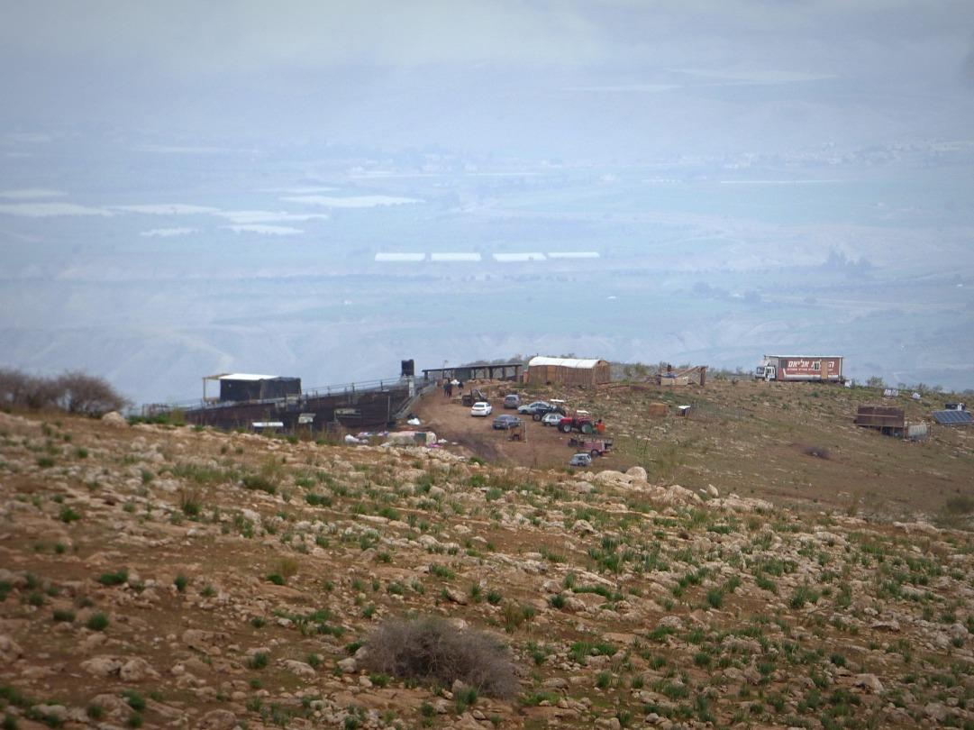 22-01-2018 Khirbet Samra Outpost on hills around community EAPPI EPritchard