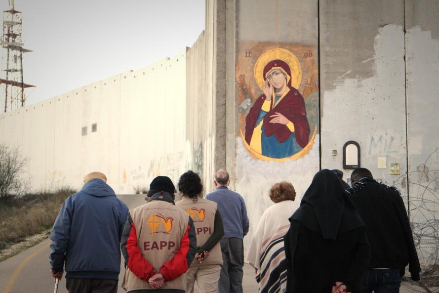 24022017 Checkpoint 300 Wall Prayer Photo EAPPI Juho M