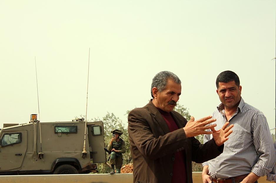 24.3.15, Abu Abdullah at Deir Istiya Protest. A.Dunne_EAPPI