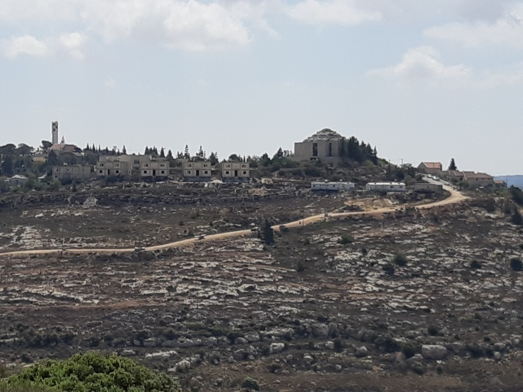 15092018 Nablus Quaryout, view of Shiloh settlement built on Quaryout land Credit EAPPI Philippa