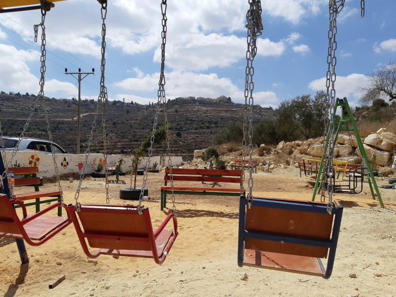 15092018, Nablus Quaryut village, playpark next to village spring, Photo EAPPI Philippa
